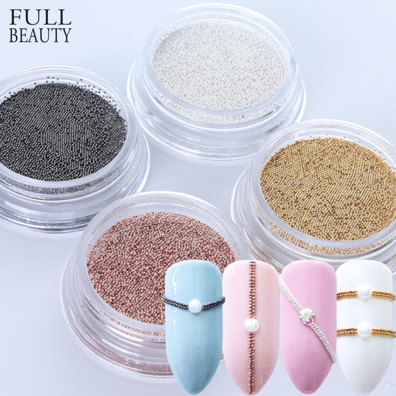0.4mm 3D Micro Steel Beads Mixed Color Nail Art Decorations Mini Small Caviar DIY Charms Stud Manicure Accessory Nail Tool CH829 C19011401