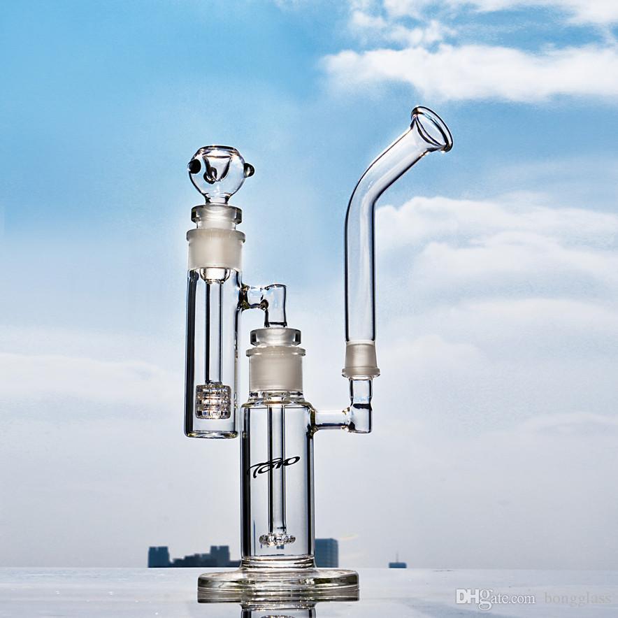 토로 물 담뱃대 유리 봉 흡연 워터 파이프 헤드 데브 굴착기 매트릭스 퍼크 애쉬 포수 PERC 18 mm 그릇 유리 물 봉
