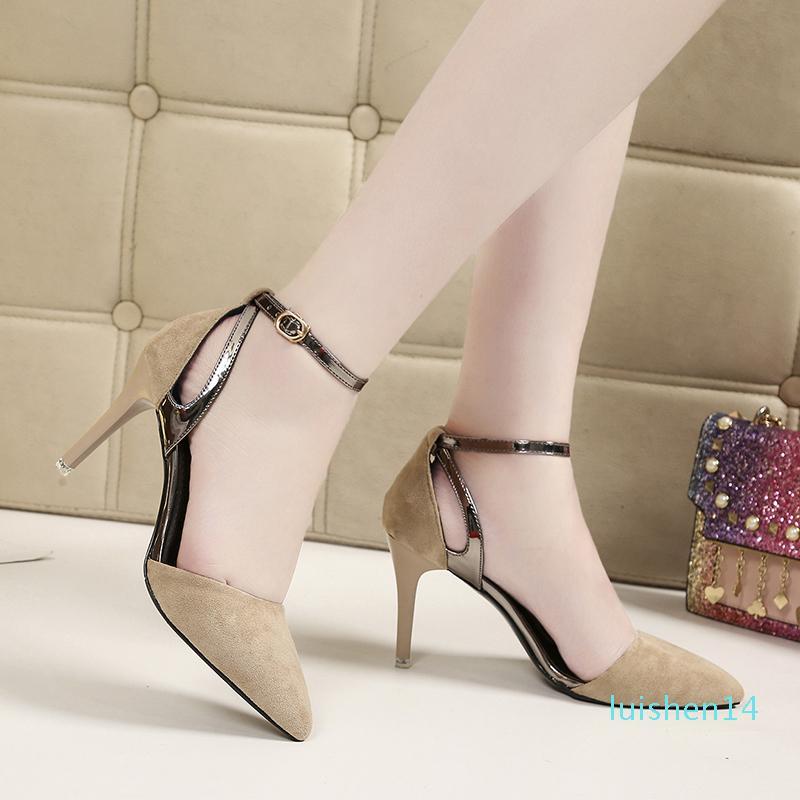 Kadınlar Sivri Burun Ayakkabı On Kadın Kitten Topuk Tatlı Kayma pompaları İnce Yüksek Topuklar Bayan Casual İlkbahar Ayakkabı Kelebek-budak 28-06 L14