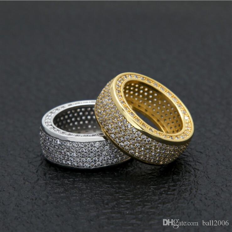 Hip Hop Ring Iced Out Ringe Mikro Pflastern Kubikzircon Versprechen Diamant Fingerringe Luxus Designer Marke Persönlichkeit Geschenk