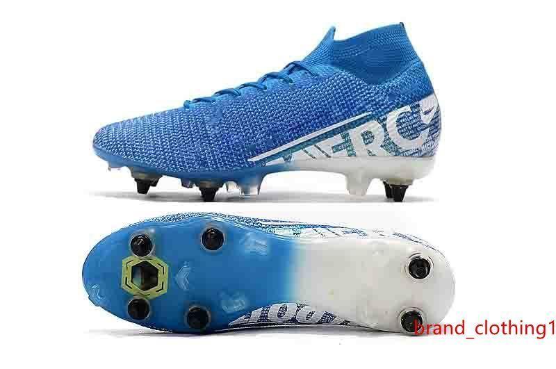 Mens qualità tacchetti Mercurial Superfly VI 360 Elite Ronaldo FG SG scarpe da calcio 7 Elite SG-PRO ad alta scarpe da calcio AC caviglia
