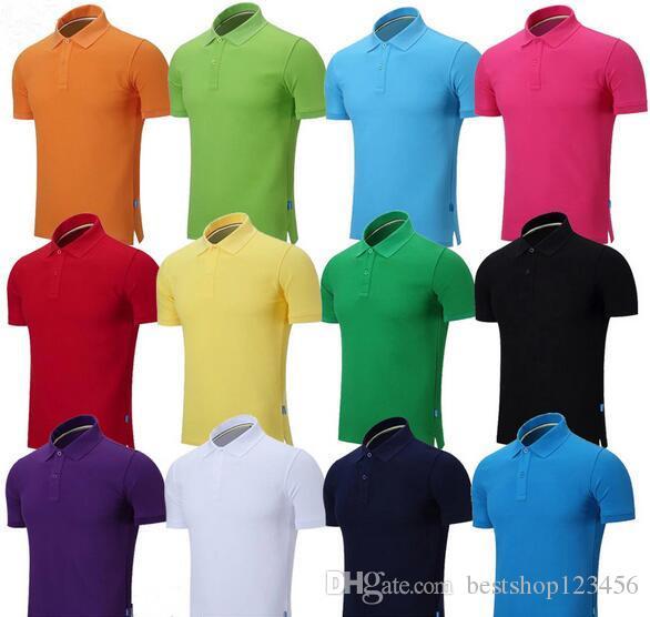 2020 bordado verano camisas de polo de algodón Caballo Polos hombre Los hombres de manga corta de las camisas ocasionales hombre s Solid Camisa Camisa del potro tee