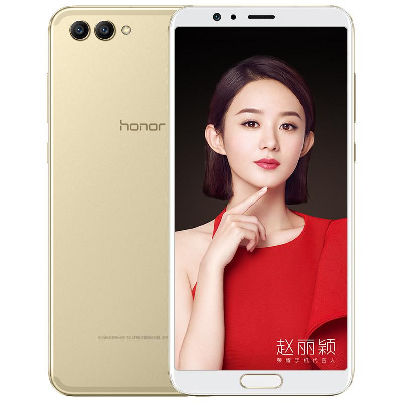 "Original Huawei Honor V10 4G LTE Cell Phone 4GB RAM 64GB 128GB ROM Kirin 970 Octa Core Android 5.99"" Full Screen 20MP AI AR OTG NFC Fingerprint ID Face Smart Mobile Phone"