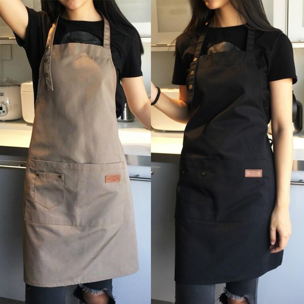 Faroot Pure Color Cuisiner Cuisine Toile Tablier unisexe Homme Femme chef Waiter Café Boutique BBQ Tabliers Coiffeur