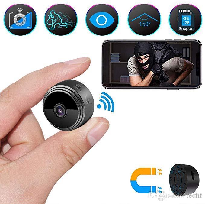 A9 WiFi كاميرا لاسلكية مصغرة كاميرا كاملة HD 1080P المحمولة الأمن المنزلية سرا مربية كام داخلي الحركة تنشيط كاميرات للرؤية الليلية