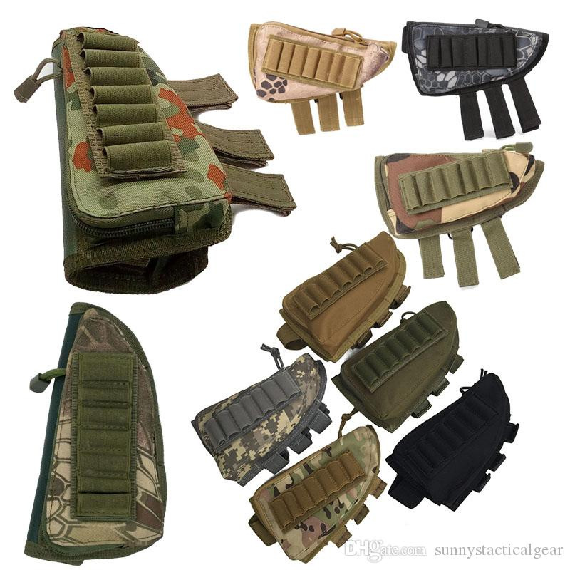 Camouflage Pack Magazine Mag Pouch Cartouches Titulaire Porte-Munitions Carrier AMMO Shell Recharge Tactical ButtStock Repos Riser N ° 7-012