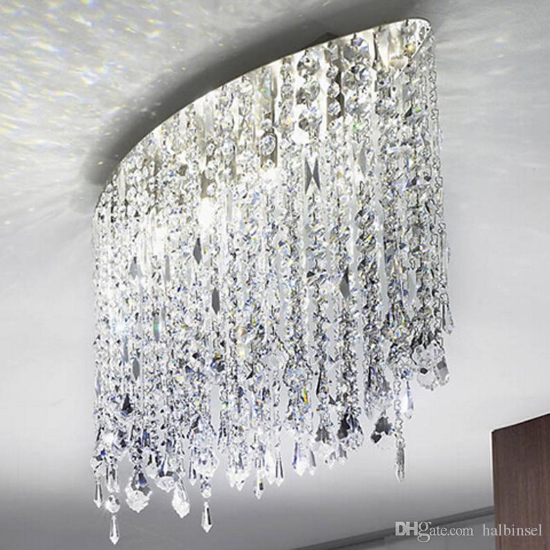 Marilyn 66 선형 서스펜션 크리스탈 샹들리에 눈부신 차가운 빛 LED G9 램프 홀더 스테인레스 스틸 간단한 설치
