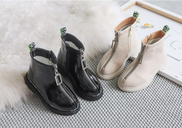 أطفال أحذية للبنات PU جلد الأطفال ربيع الخريف أزياء للماء عارضة أحذية شتاء أحذية المراهقين