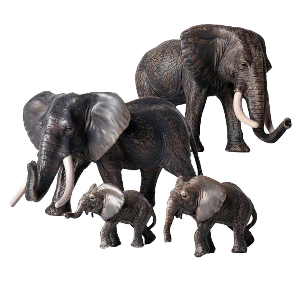Modelos 4pcs elefante Parte de la colección de juguetes Educación Animal Para niños de los niños