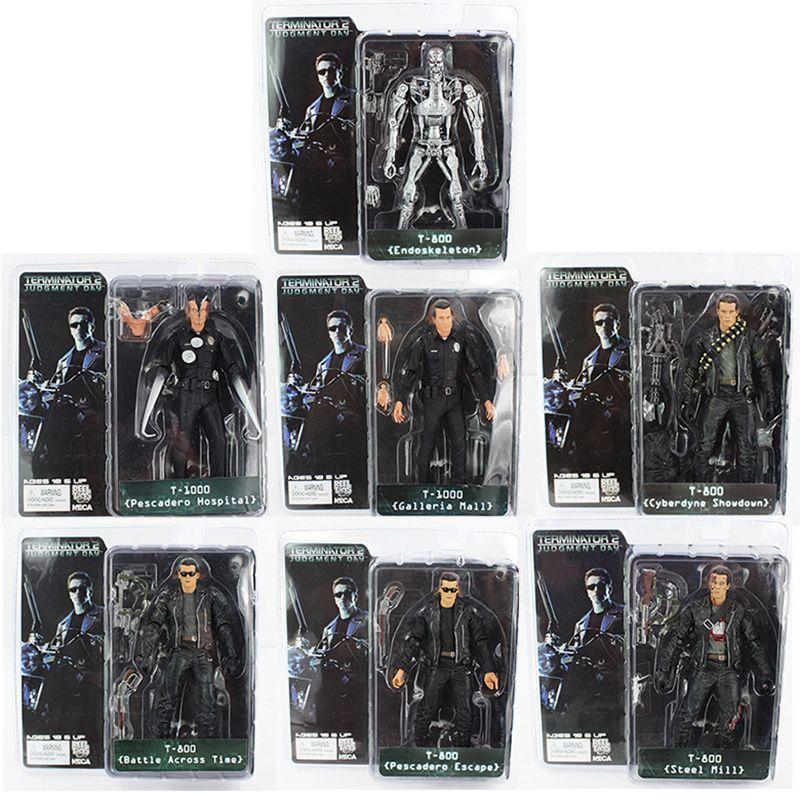 "7 estilos Neca The Terminator Action Figure Toys Classic Pvc Collectible Toy 7 ""18cm con caja J190508"