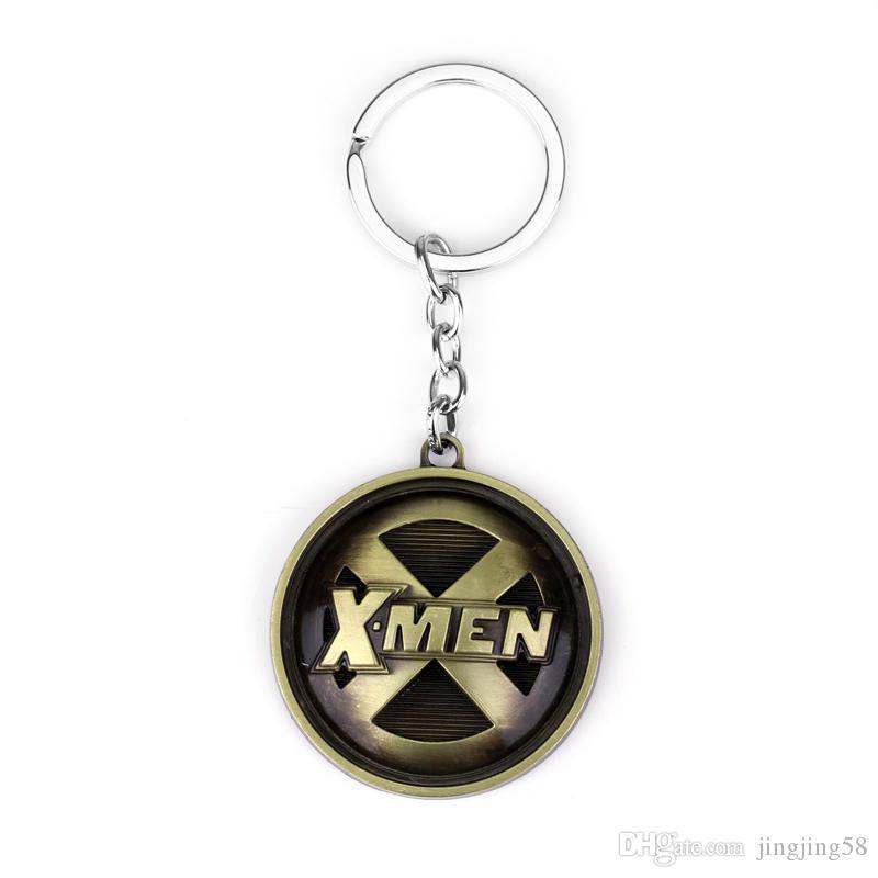 2018 Vintage Model Alloy Material X-Men Keychain For Men Trinket Llavero Men's X Key Chain Ring Key Holder Car Keyring