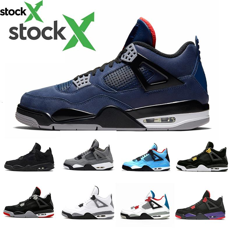 Stock X Loyal Blue 4 4s IV Zapatillas de baloncesto para hombre Bred White Cement What The Cactus Jack Cool Grey Hombres Mujeres Zapatillas deportivas