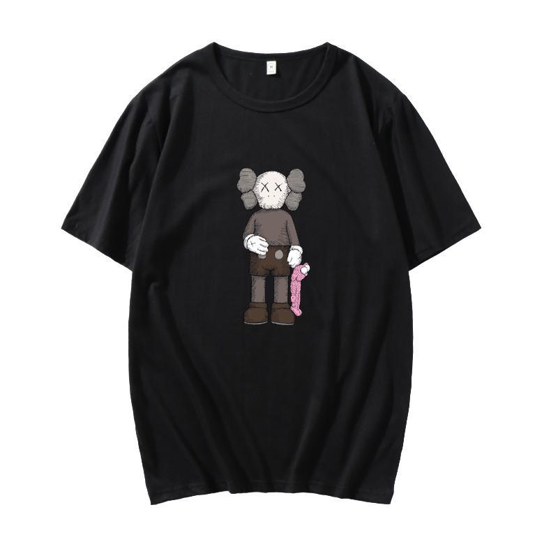 19ss бренд мужчины хлопок Улица Сезам Elmo футболки мужчины круглый вырез белый черный желтый с коротким рукавом футболки размер индивидуальные футболки S-3XL