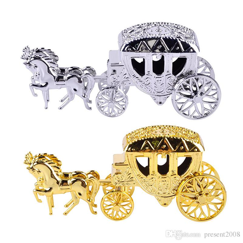 20pcs Cinderella Carriage Wedding Favor Boxes Candy Box Casamento Wedding Favors And Gifts Event & Party Supplies