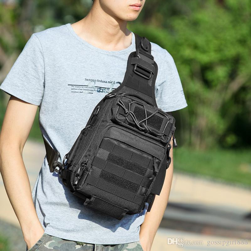Outdoor hiking backpack Tactical Multi-function designer fannypack Single Shoulder Slung Riding Men's Chest Bag Camouflage Sports Backp