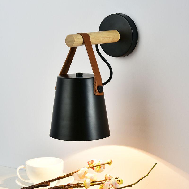Lampe LED mur nordique E27 / E26 Lumières de mur en bois pour le salon hôtel Chambre vanité Sconce nuit wandlamp d'appareils d'éclairage