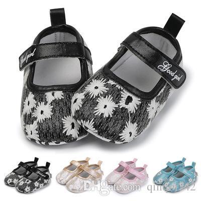 Bebê recém-nascido Crianças Sapatos de Grife Animal Bonito Princesa Criança Anti-slip Em Sapatos 0-18 Meses da criança Berço Gancho Loop Primeiros Caminhantes