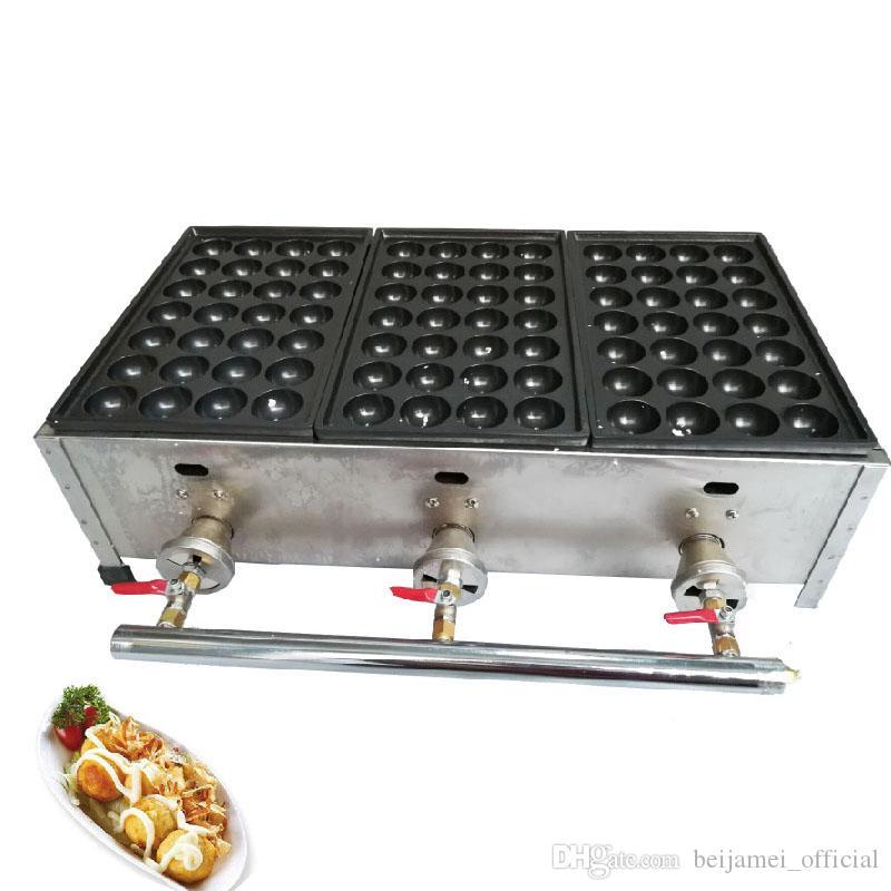 BEIJAMEI Máquina de hacer bolas de pulpo a gas / fabricante japonés de takoyaki plancha de panadería / horno de bolas de pescado LPG comercial