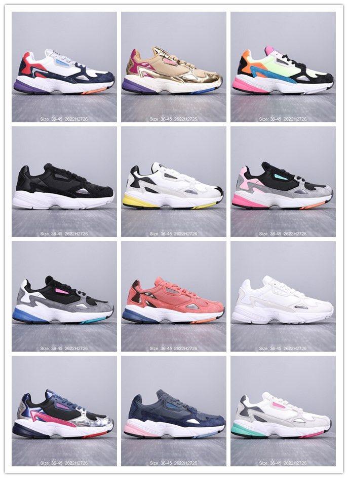 Los amantes de la nueva manera Falcon zapatos ocasionales de las mujeres de cuero de lujo para hombre de las zapatillas de deporte al aire libre de los zapatos corrientes de Dadday Unisex 36-45 Chaussure