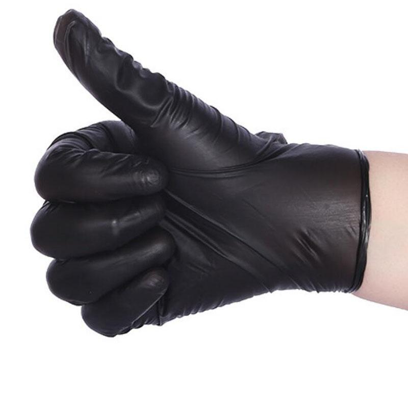 Черный цвет одноразовые латексные перчатки садовые перчатки для домашней чистки резиновые или чистящие перчатки универсальная еда в наличии 100 шт. / лот