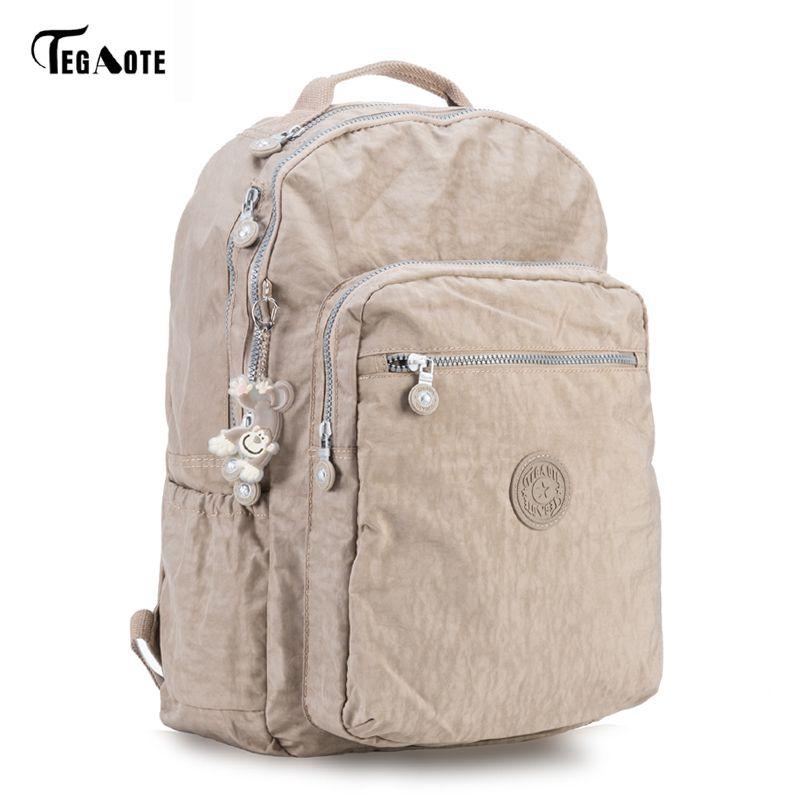 Tegaote Backpack Student College Waterproof Nylon Backpack Men Women Material Escolar Mochila Quality Brand Laptop Bag School Y19061204
