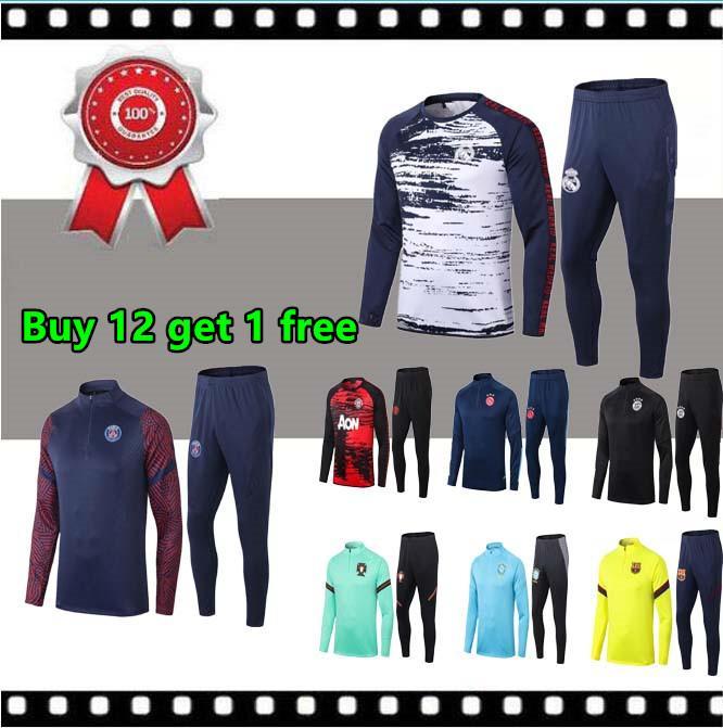 Melhor 2020 21 chandal real madrid agasalho homens jerseys agasalho jaqueta de futebol do futebol de jogging terno treinamento