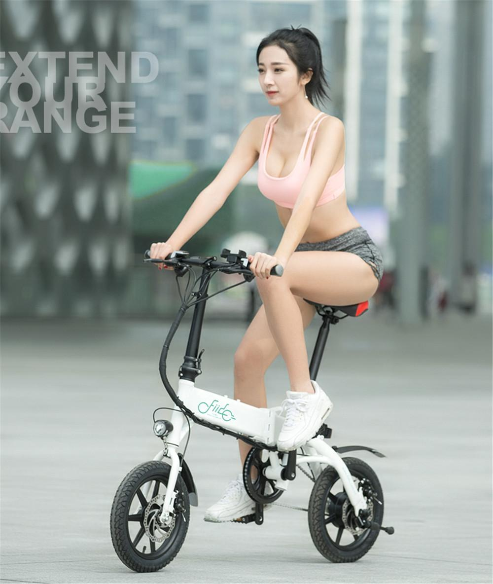 Fiido D1 Foldable Electric Scooter 2 Wheel Electric Bicycle 36V 250W Dual Brake System Portable Mini Folding Electric Bikes