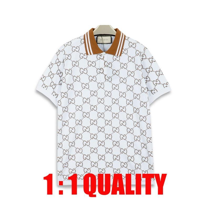 горячие продажи Италия дизайнер рубашки поло футболка дизайнерский бренд змея пчела цветочная вышивка мужские Поло High street Stripe Print Polo футболки