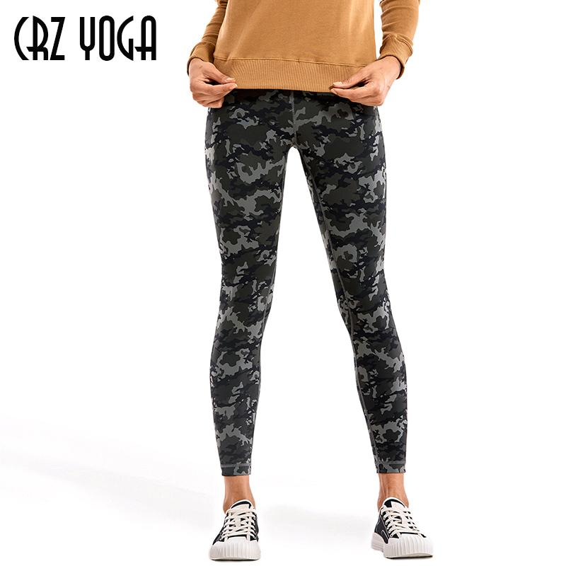 CRZ YOGA Feeling Femme nue I taille haute pantalon serré de yoga leggings 25 pouces entraînement