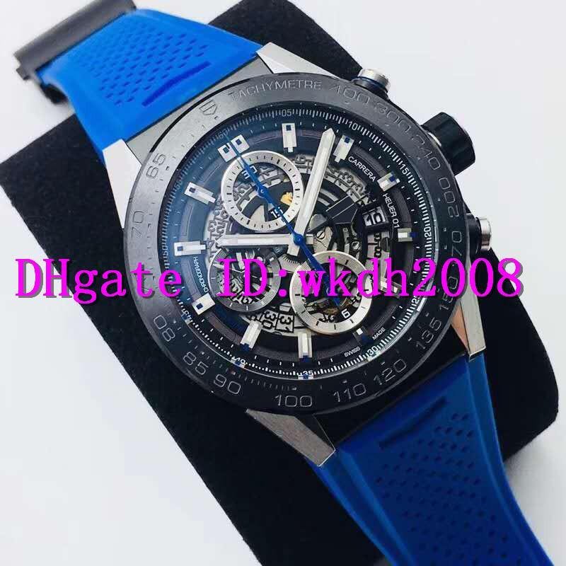 XF Factory New Luxury Мужские часы Swiss 2824 автоматические механические Секундомер хронографа Скелет циферблат сапфировое из нержавеющей стали спортивные часы