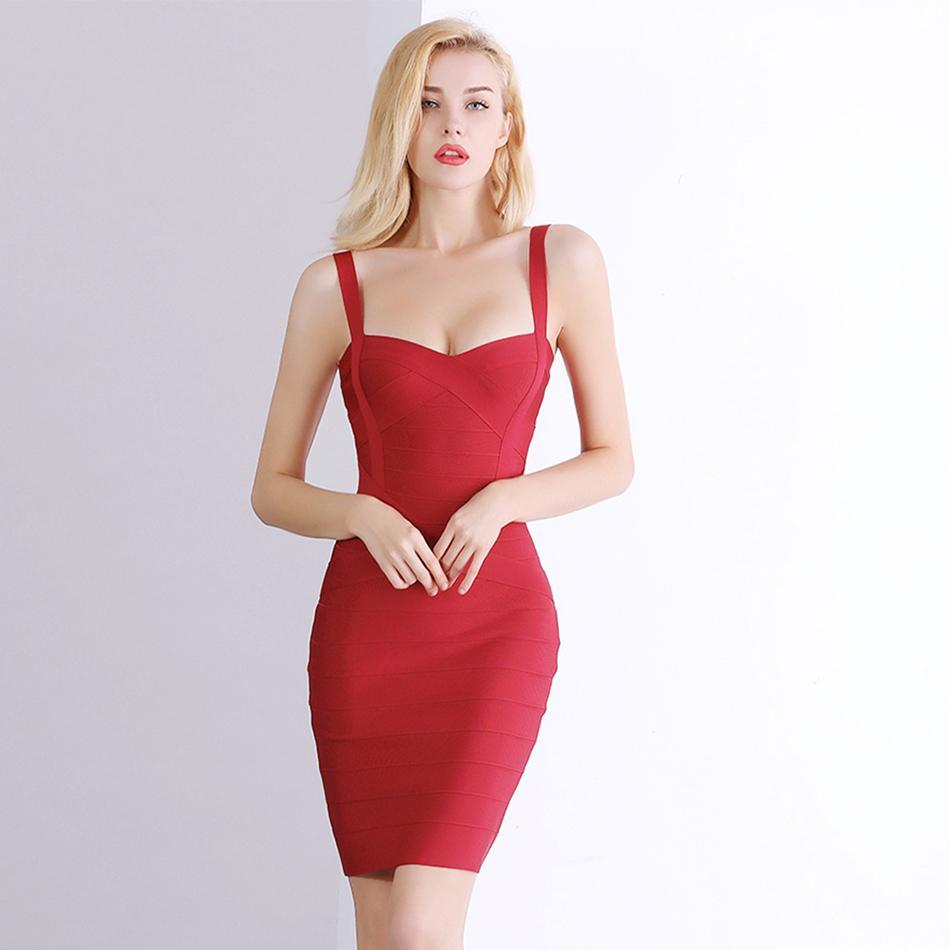 8714a0a25d8a8 2019 2018 New Women Sexy Spaghetti Strap Rayon HL Elastic Celebrity Bandage  Dress Bodycon Mini Club Party Dresses Drop Ship HL8675 Y190117 From ...