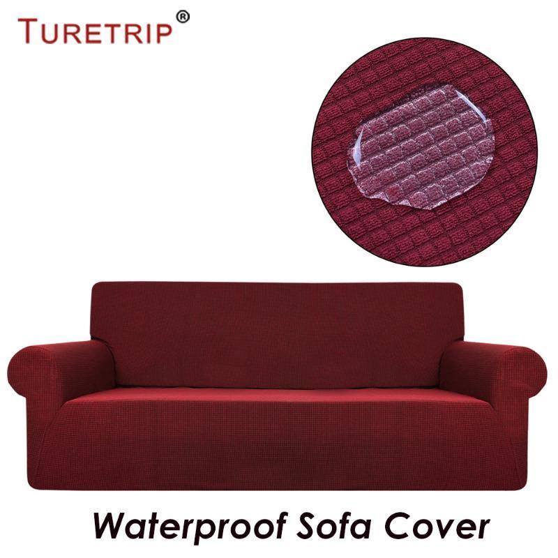 Turetrip للماء غطاء صوفا للحصول على أريكة الغلاف كاملة قابلة للطي مرونة مع ذراع تمتد الأثاث حامي 1PC غطاء منقوش
