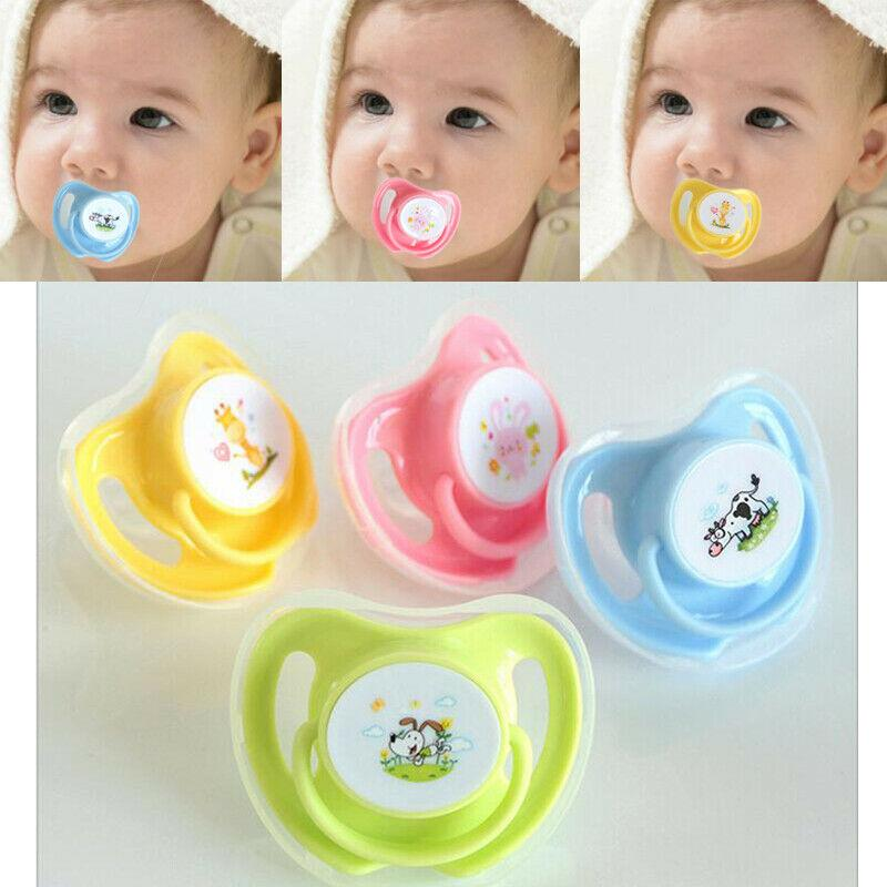 Newborn Baby Kids Orthodontic Dummy Pacifier Silicone Teat Nipple Soother Clean