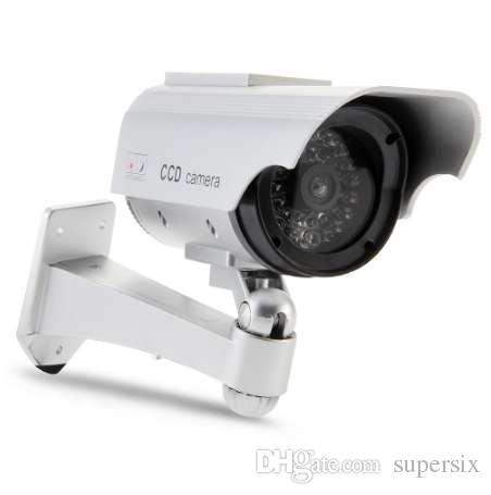 SUNLUXY Camera Solar Powered Flicker Blink 36 pcs LED Falso Indoor Câmera de Segurança Ao Ar Livre Vigilância Bala Câmera CCTV