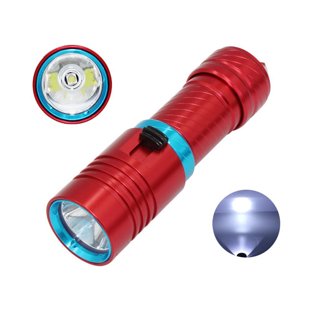Impermeabile XM-L2 LED Torcia subacquea 26650 Underwater 100 Metri XM-L2 LED Torcia Lampada Light spearfishing Lanterna