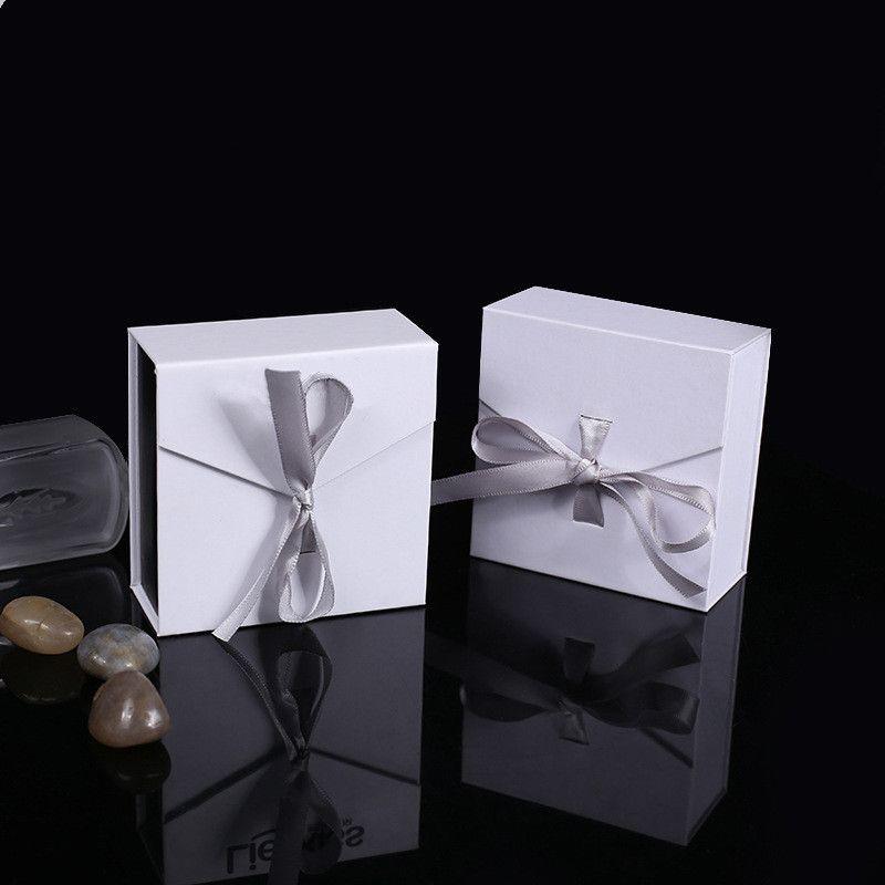Moda jóias colar de presente arco anel de fita de papel Caixa ouvido Caixas de casamento parafuso prisioneiro de jóias de armazenamento caixa de jóias presente Organizer