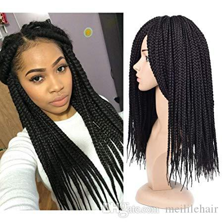 Box Braids Crochet Braid Hair Extensions 22Strands 6Packs Senegalese Twist Crochet Braids Ombre Kanekalon Braiding Hair For Women