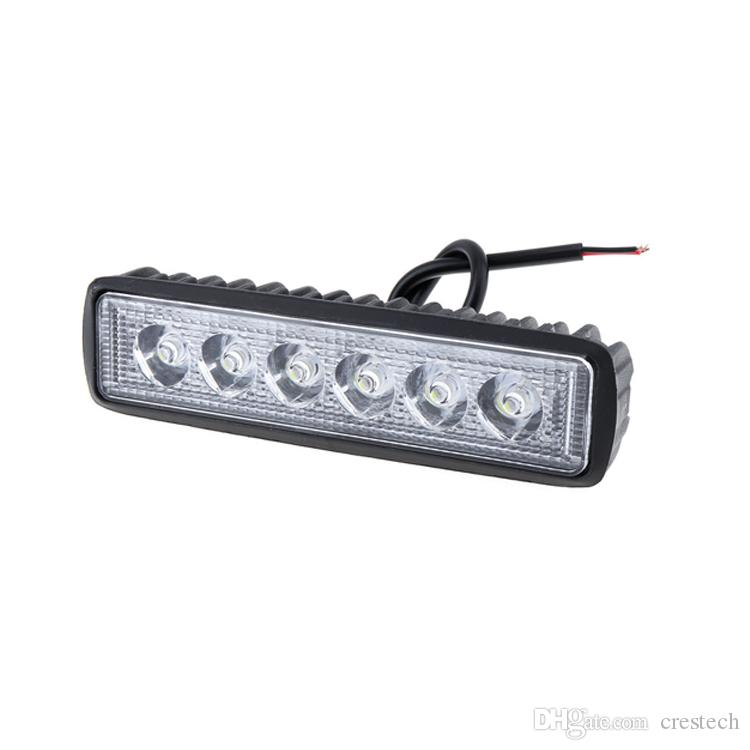 18W Motorcycle electric vehicle LED Work Light Bar Flood Offroad Car Boat Truck Driving Fog Automobile Headlamp Work Lamp