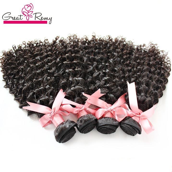 Greatremy® 헤어 익스텐션 깊은 곱슬 100 % Humanhair 8-30 브라질 성생종 처리되지 않은 hairweft 직조 곱슬 자연 색상
