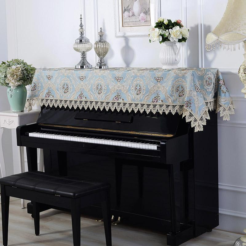 Stolze Rosen-Spitze Klavier Abdeckung sticken Europäische Tuch-Abdeckung Staubdichtes Klavier Tuch-Tuch Universal-Staubdichtes halbe Abdeckung