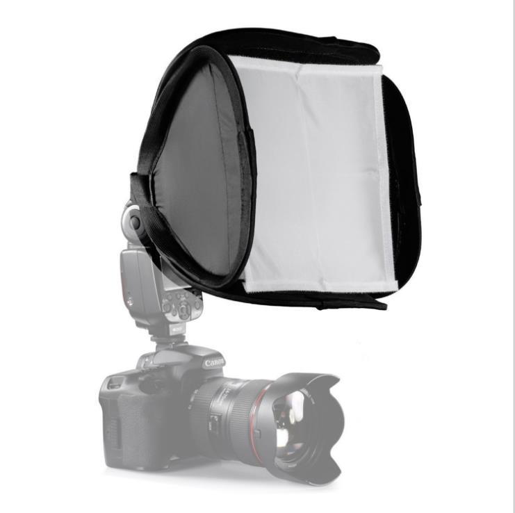 Fotoausstattung SLR-Kamera-Oberflash-Softbox 23 * 23cm Weiche Abdeckung Tragbare Softcover Softbox Universal