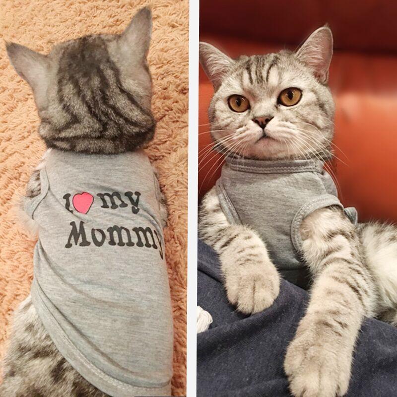 Camisa bonito Cat Dog Pet roupas para cães Primavera Verão respirável colete para gatos cães pequenos Chihuahua Pug Yorkies Kitten Outfit Tanque