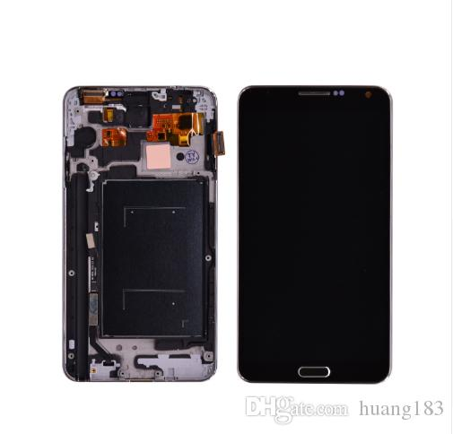 For Samsung Galaxy Note 3 N9005 LCD Display With Touch Screen Digitizer With Bezel Frame Assembly