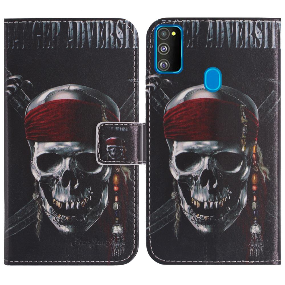 YLYH TPU Silicone Protect Stylish Funny Leather Rubber Gel Cover Phone Case For Samsung Galaxy M21 Xcover Pro Pouch Shell Wallet Etui Skin