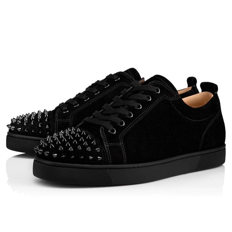 scarpe chiodate nuovo progettista Spikes moda Red pelle scamosciata delle donne degli uomini fondo piatto scarpe di lusso parte gli amanti delle scarpe da tennis con box CU04