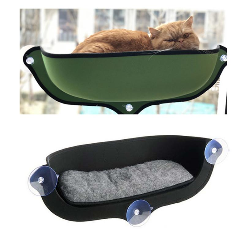 Window Mount Cat Hammock Bed With Sucker Soft Sofa Lounger Bed Comfortable Window Bed Small Pet Hanging Shelf Seat Pet Supplies Y200330