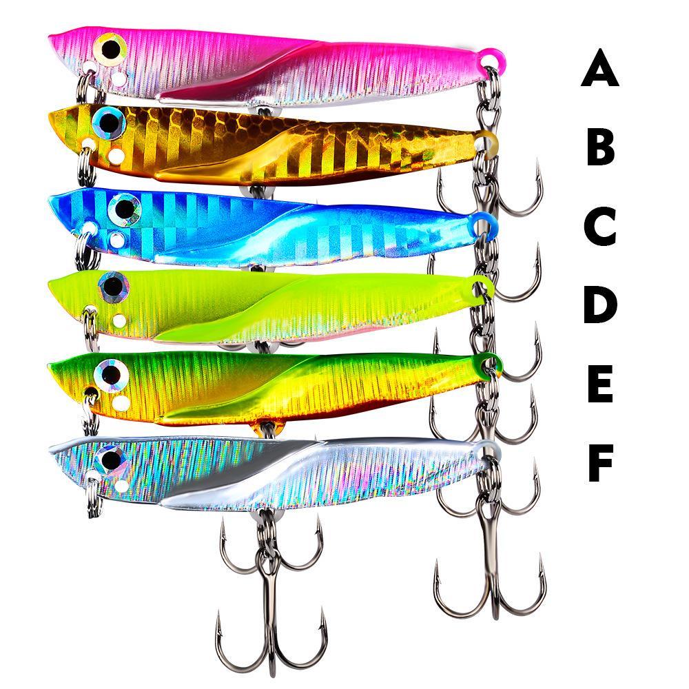 Nouvelles VIB Lame Lure 11/15 / 21G 5.5 / 6 / 7cm Sinking Vibration Appâts artificiels Vibe pour Basse sandre Pêche Long Shot