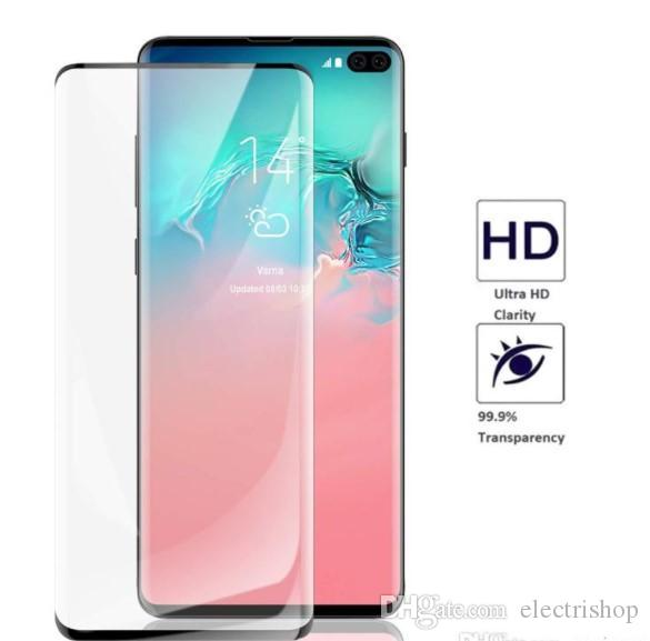 Samsung Galaxy Note 10 tempered glass Case Friendly Fingerprint unclock 3D Curve Edge Screen Protector For s10 s9