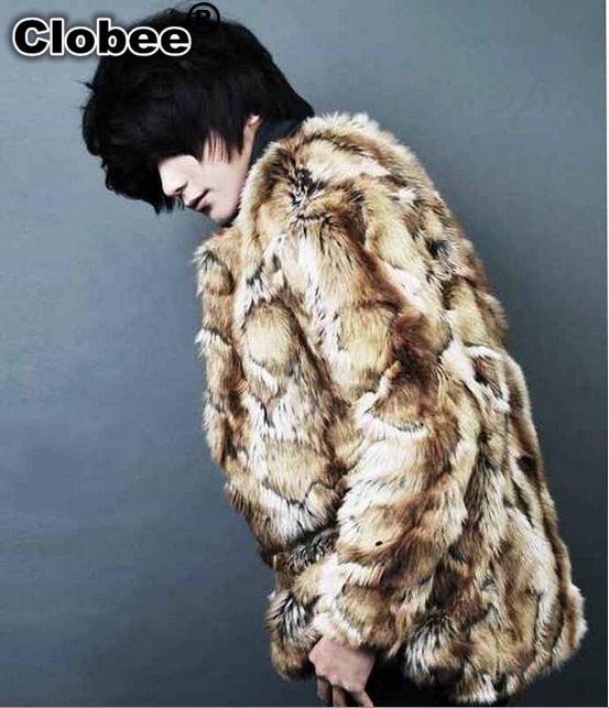 Además leopardo Tamaño de impresión 2020 Escudo capa de los hombres de invierno Casaco Masculino largo del estilo de la vendimia caliente de la chaqueta de piel falsa Outwear X721