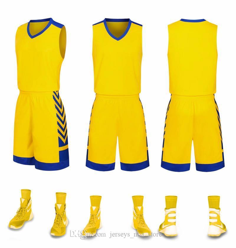 Şort Üniformalar ile İndirim Ucuz erkekler Eğitim Basketbol Takımları o ev ve uzak bir görünüm kitleri Sports 44-43 için geri dönüşümlü basketbol formaları